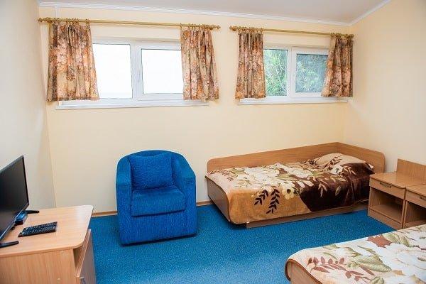 Санаторій «Ореанда» Бердянськ Економ з двома ліжками в сторону моря Фото №2